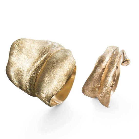 Ole-Lynggaard-Rings-in-the-Leaves-Collection-in-18ct-yg-in-large-and-medium