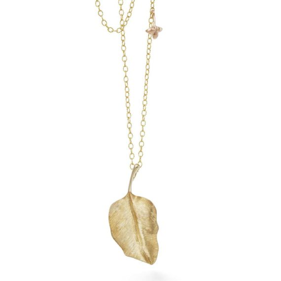 Ole-Lynggaard-Round-4-cm-Leaves-pendant-in-18ct-yg-on-lotus-anchor-chain-with-carabine