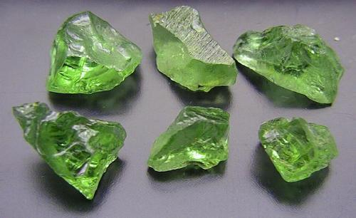 Peridot uncut, ready for Brett's Jewellers to turn into the Green Birthstone for August.